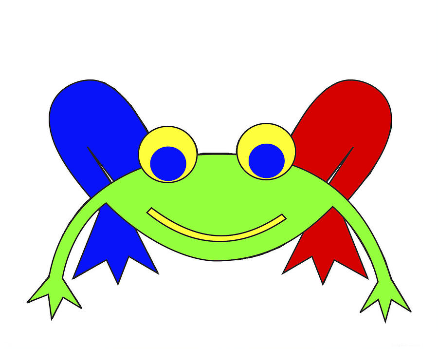 Frederic The Frog. Frederic Digital Art - Frederic The Frog by Asbjorn Lonvig