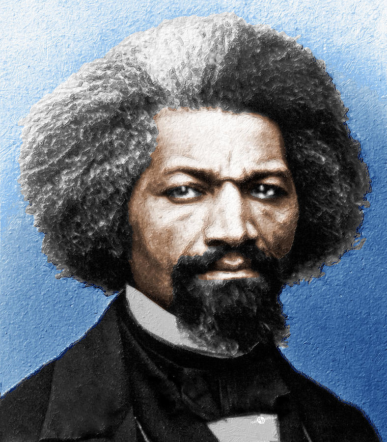 Frederick Douglass Painting - Frederick Douglass Painting In Color  by Tony Rubino