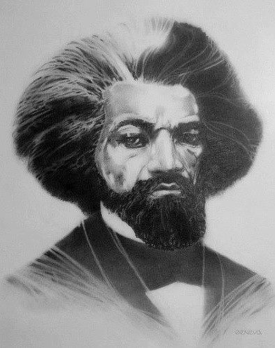 Portrait Drawing - Frederick Douglass by W James Taylor