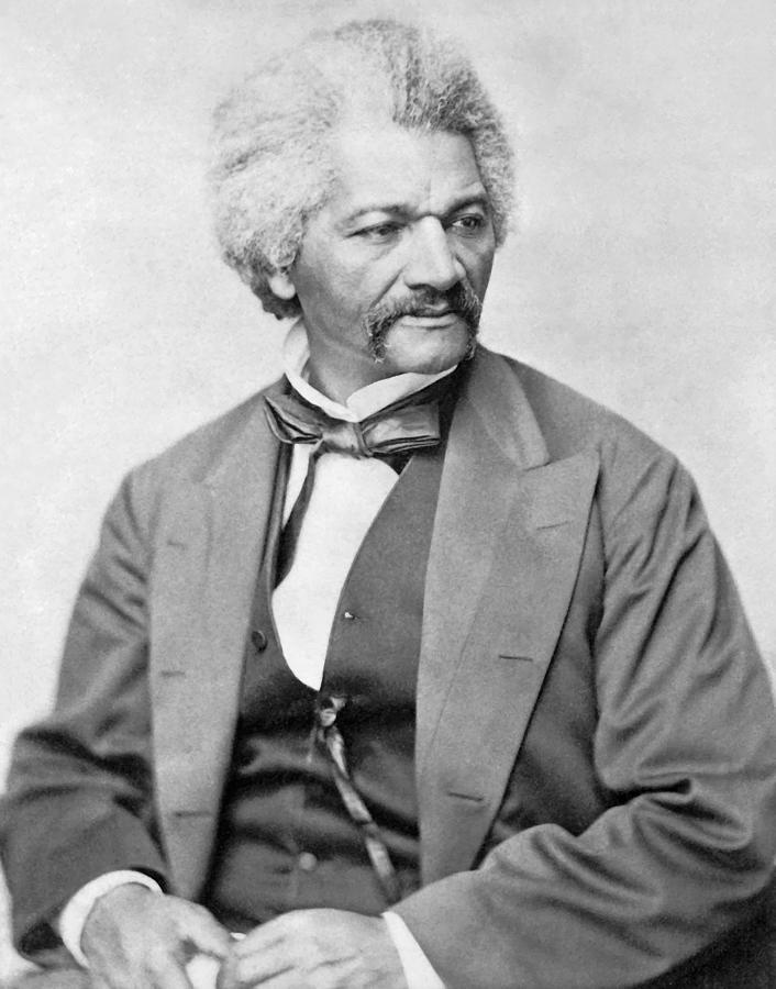 Frederick Douglass Photograph - Frederick Douglass by War Is Hell Store