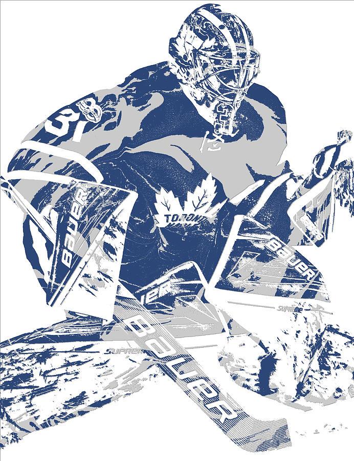 Frederik Andersen Toronto Maple Leafs Pixel Art 2 Mixed Media By Joe Hamilton
