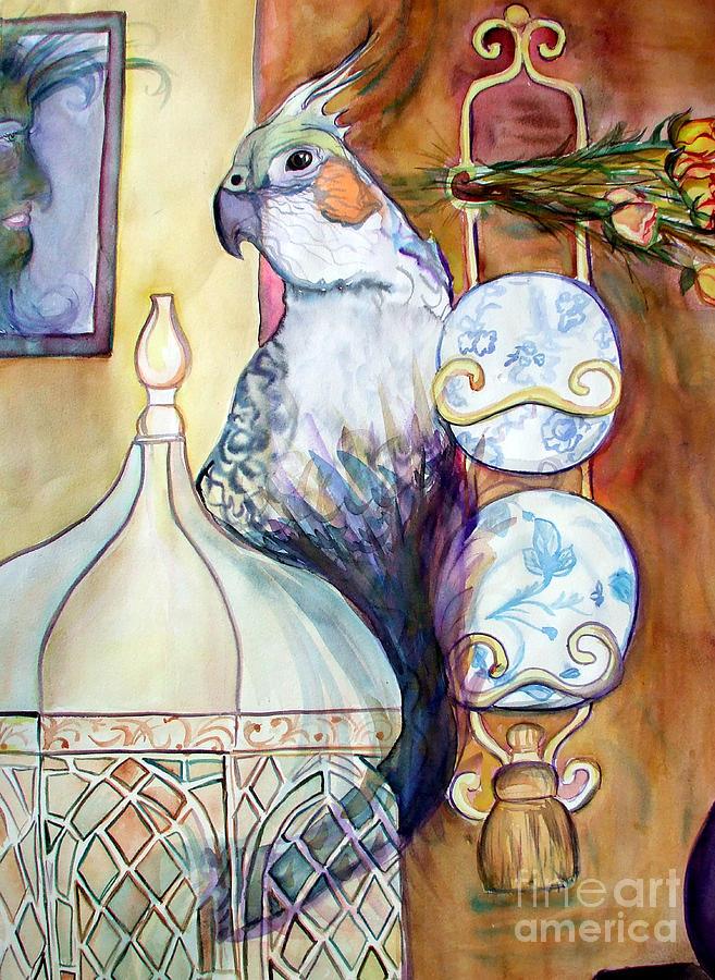 Bird Painting - Freds Escape by Vanda Sucheston Hughes