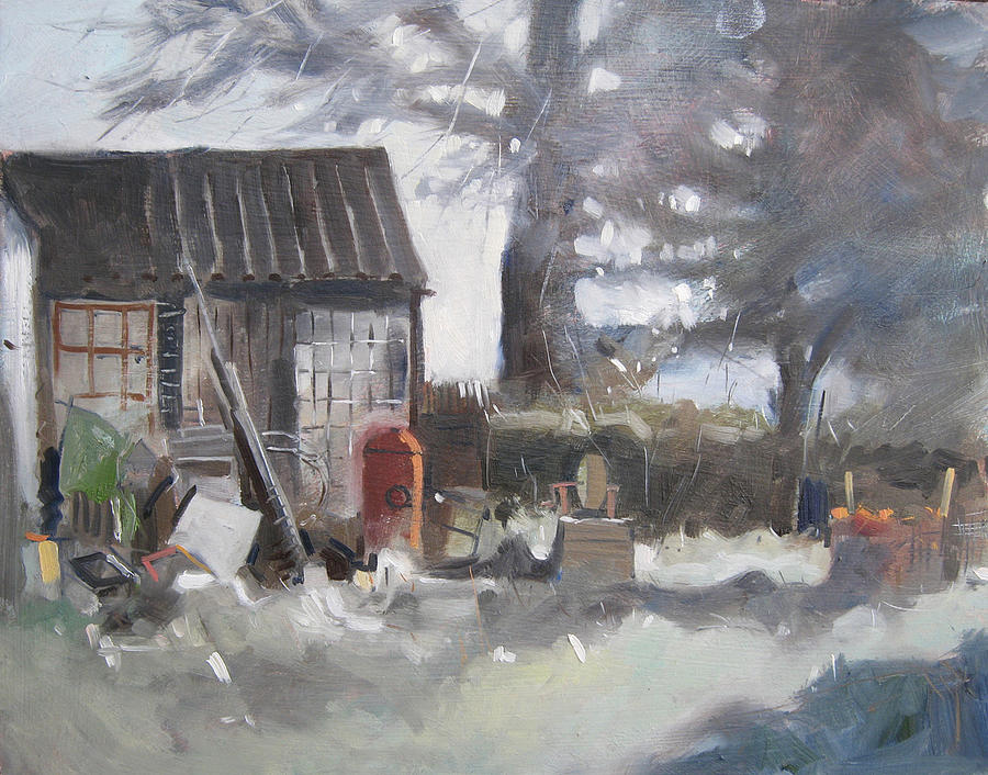 Landscape Painting - Freds Shed by Nigel Fletcher
