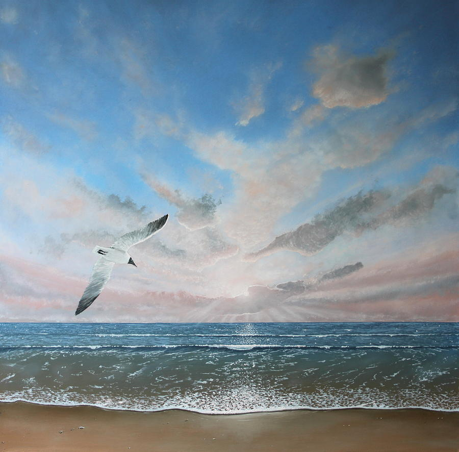 Sea Painting - Free As A Bird by Paul Newcastle