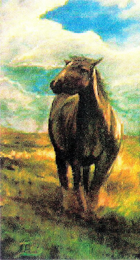 Horses Painting - Free At Last by Sue Tesin