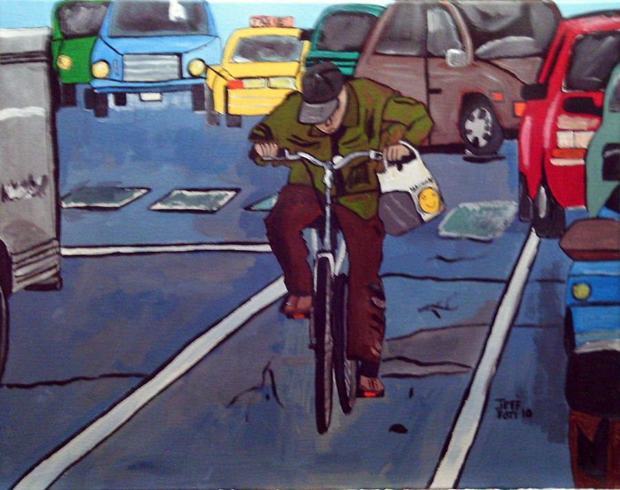 Free Delivery Painting by Jeffrey Foti