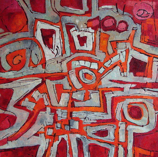 Abstract Painting - Free Energy  Four by Martin Koetsier