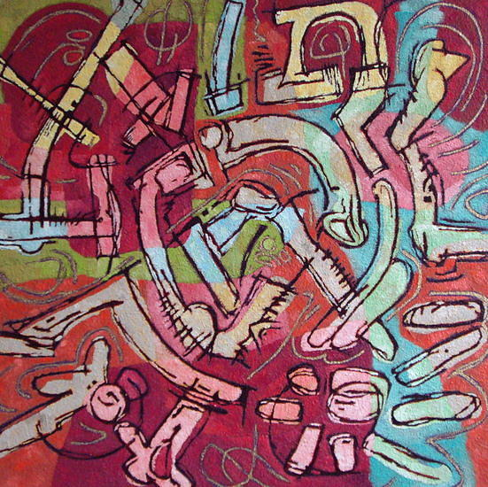 Abstract Painting - Free Energy  Seven by Martin Koetsier
