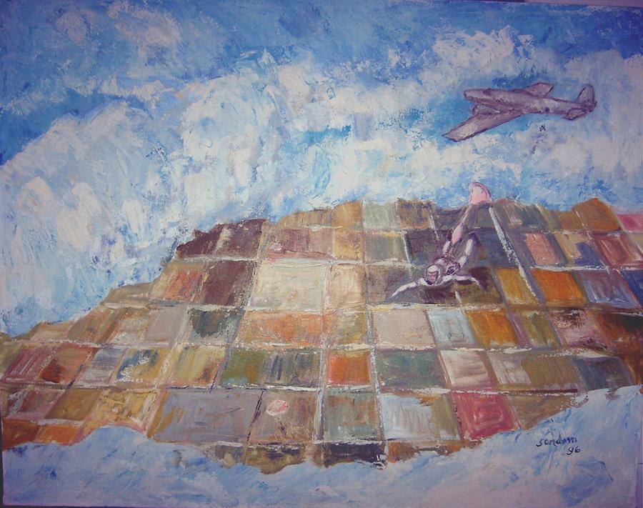 Free Fall Painting by Joseph Sandora Jr