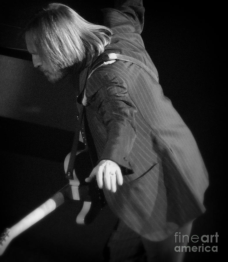 Tom Photograph - Free Fallin - Tom Petty by J J  Everson