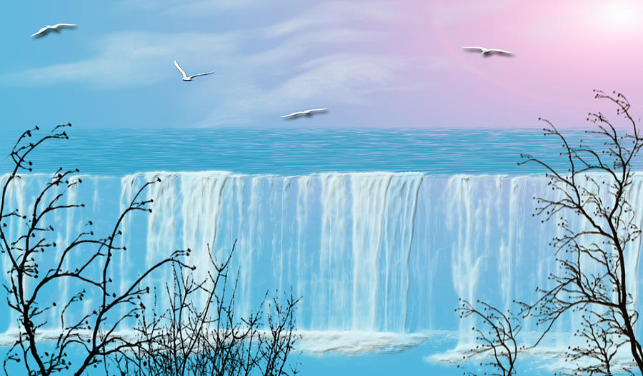 Waterfall Photograph - Free Falling by Evelyn Patrick