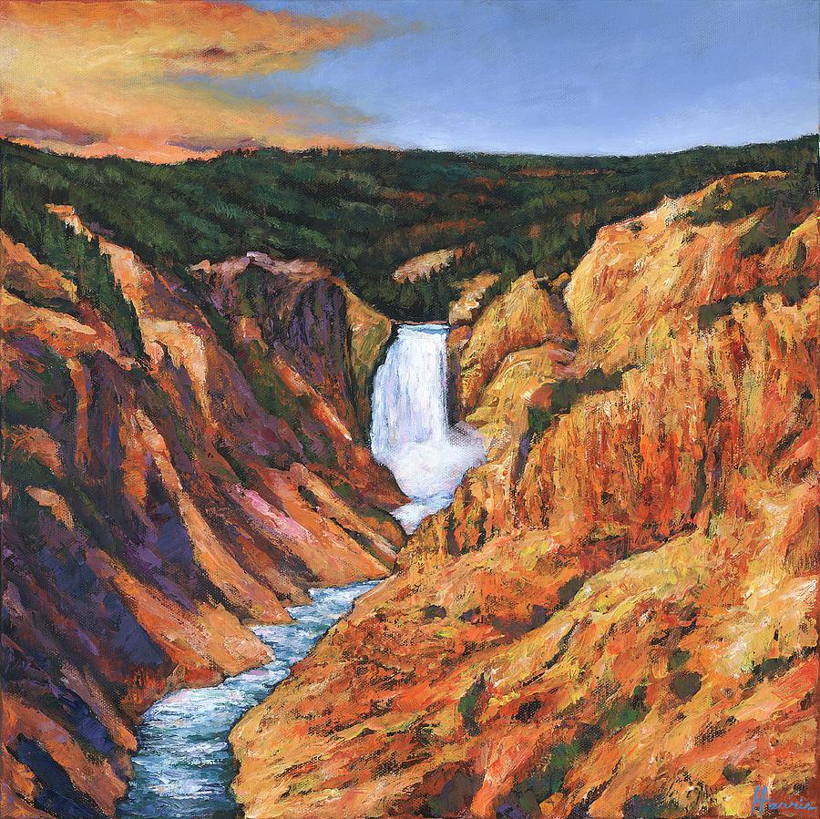 Wyoming Painting - Free Falling by Johnathan Harris