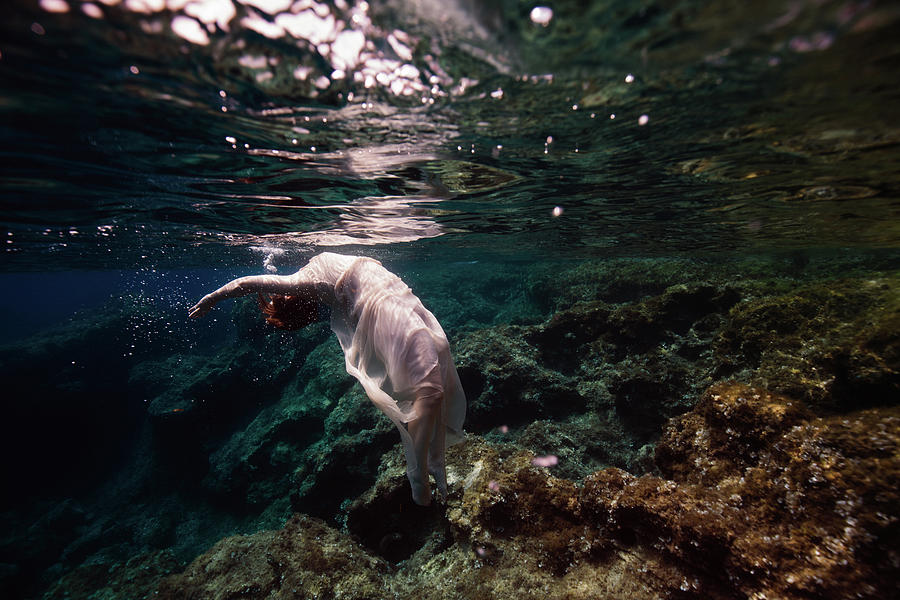 Swim Photograph - Free Mermaid by Gemma Silvestre