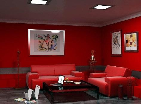 Interiors Drawing - Free Modern Living Freshly Of My Done by Walid Fahmy