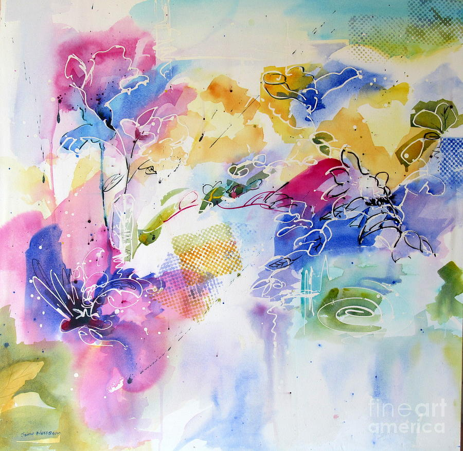 Abstract Paintings Painting - Free Spirits by John Nussbaum