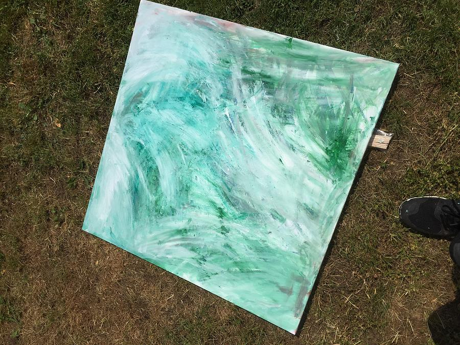 Abstract Painting - Free Time by Samuel Holliday