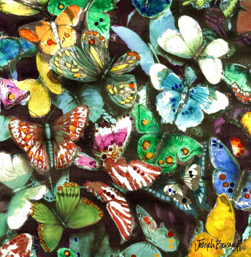 Insects Painting - Free To Fly by Joseph Barani