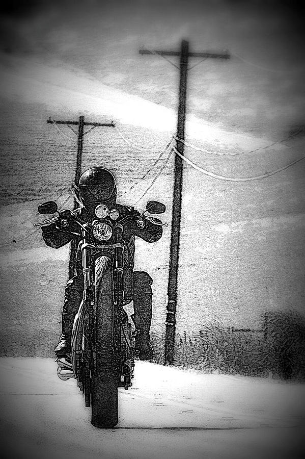 Motorcycle Photograph - Free Wheelin by Michael Curry