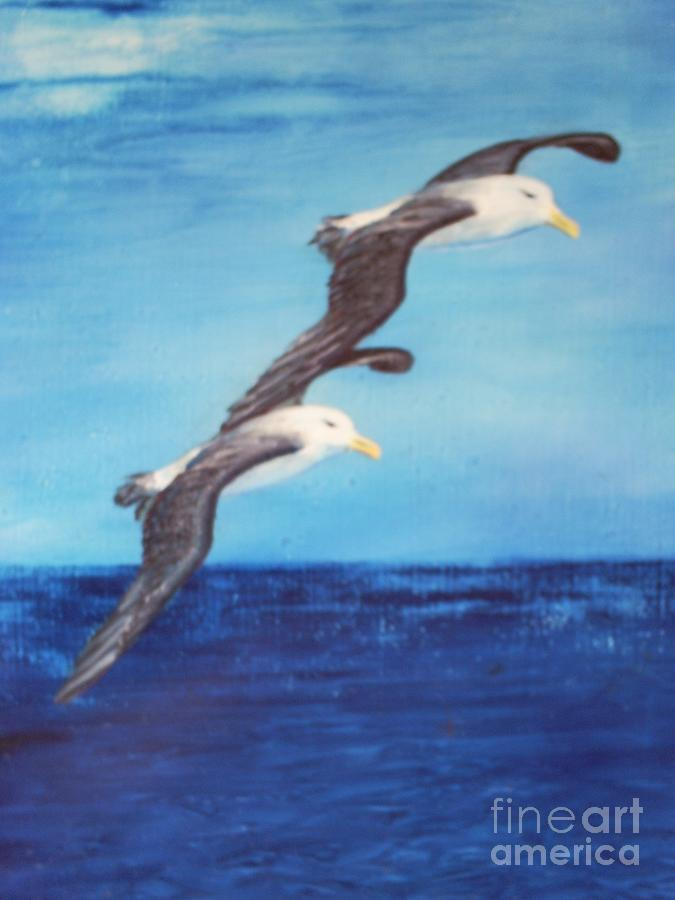 Landscape Painting - Freedom And Love by Leslie Thomas J Taylor