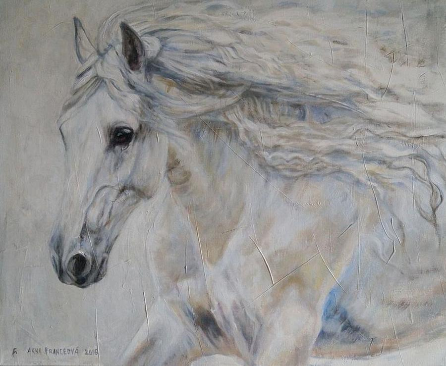 Equine Painting - Freedom by Anna Franceova