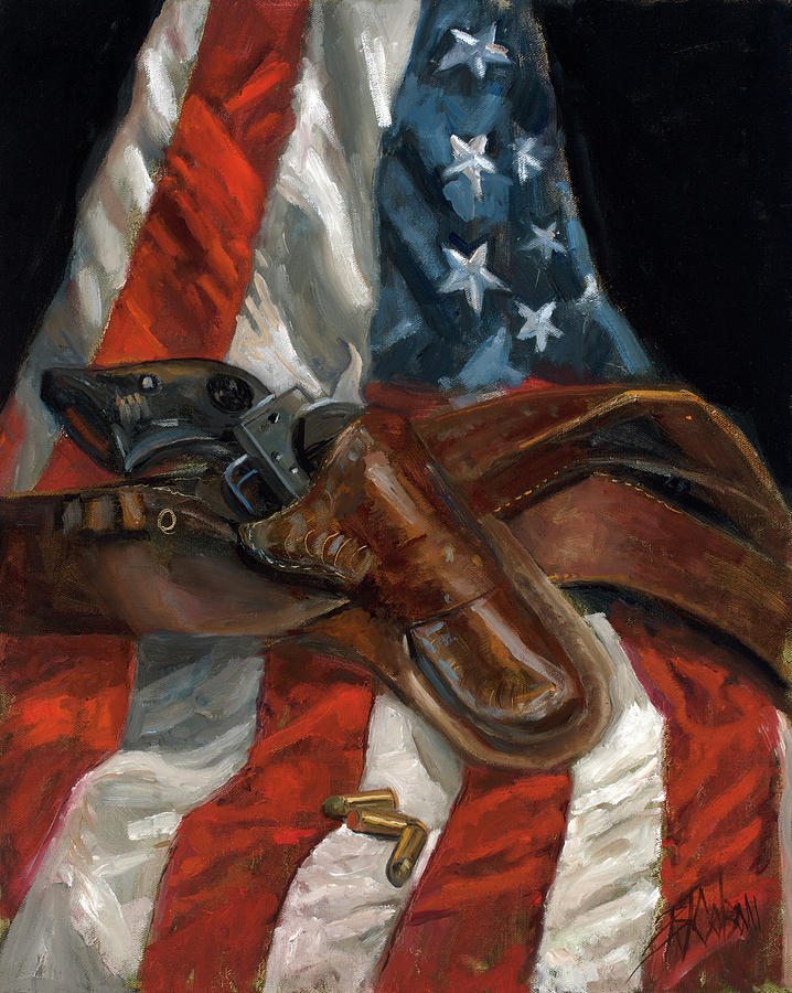 a9bea8f20 Flag Painting - Freedom by Billie Colson