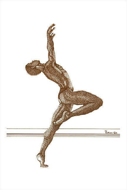 Dancer Drawing - Freedom Dance by Leonard R Wilkinson