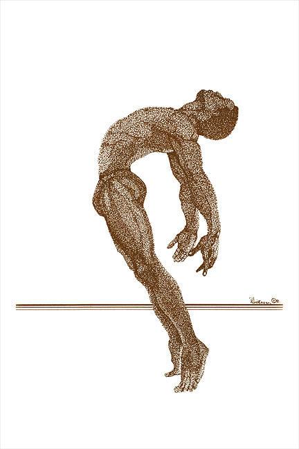 Dancer Drawing - Freedom Dance Ll by Leonard R Wilkinson