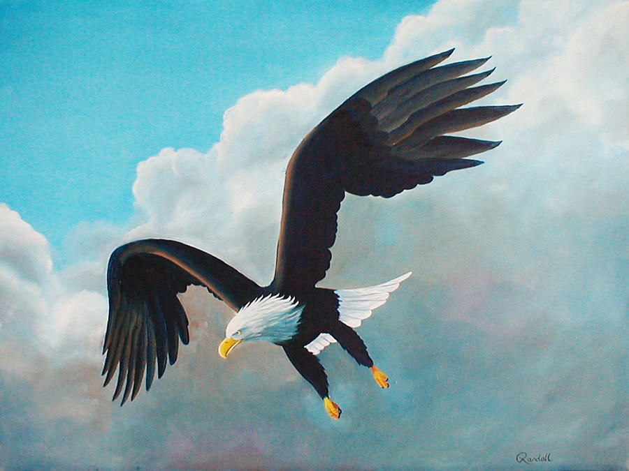 Oil Painting Painting - Freedom Eagle by Randall Brewer
