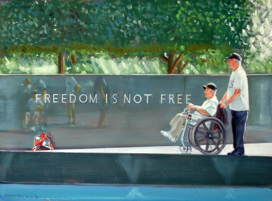 Freedom Painting - Freedom Is Not Free by Gordon Bell