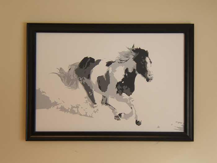 Horses Painting - Freedom IV by Michael James  Toomy