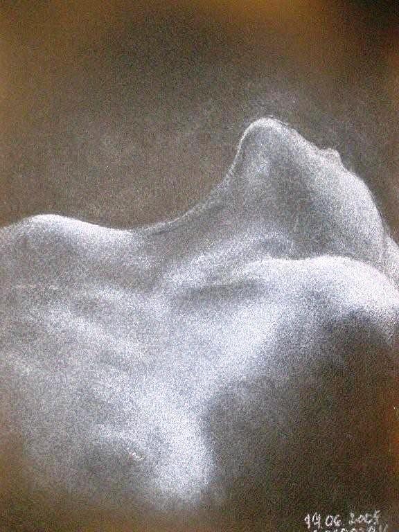 Nude Drawing - Freedom by Joanna  Kasprzak
