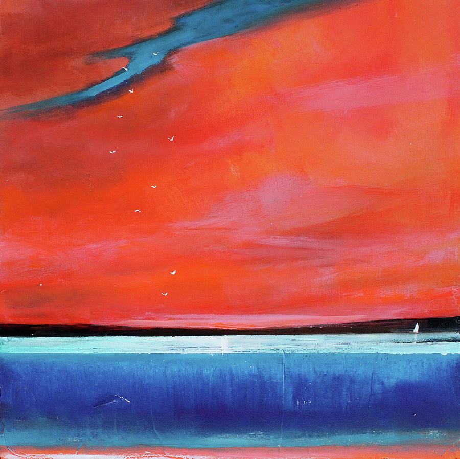 Red Painting - Freedom Journey by Toni Grote