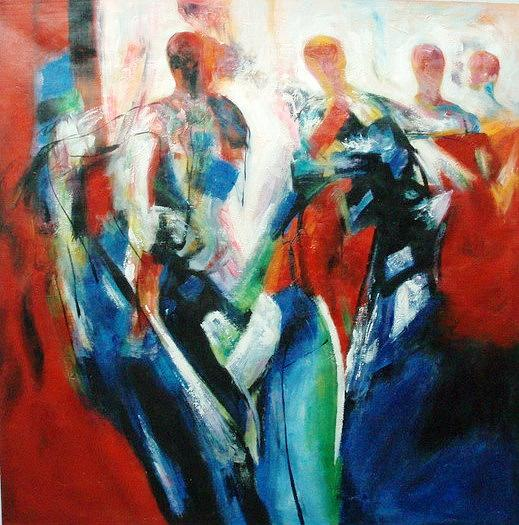 Abstract Painting - Freedom Of Dancing 3 by Manas Roy