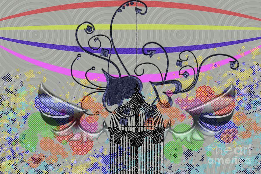 Heart Digital Art - Freedom Of Heart by Ankeeta Bansal