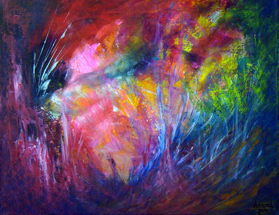 Abstract Painting - Freedom Of The Dragon Fly by Davina Nicholas