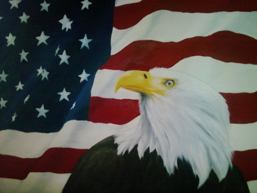 Patriotic Painting - Freedom by Tena Owen