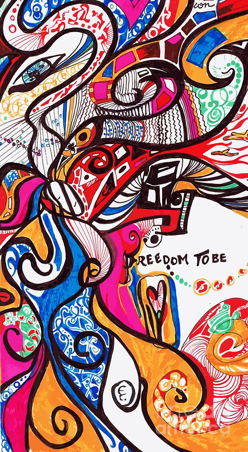 Freedom Digital Art - Freedom To Be by Eli