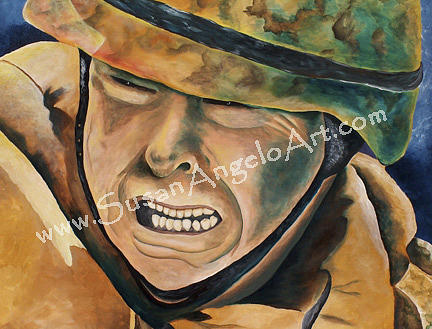 Patriotism Painting - Freedoms Sacrifice by Susan-Angelo  DeBay
