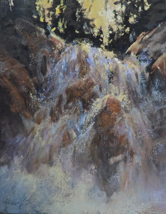 Waterfall Painting - Freefall by Mia DeLode