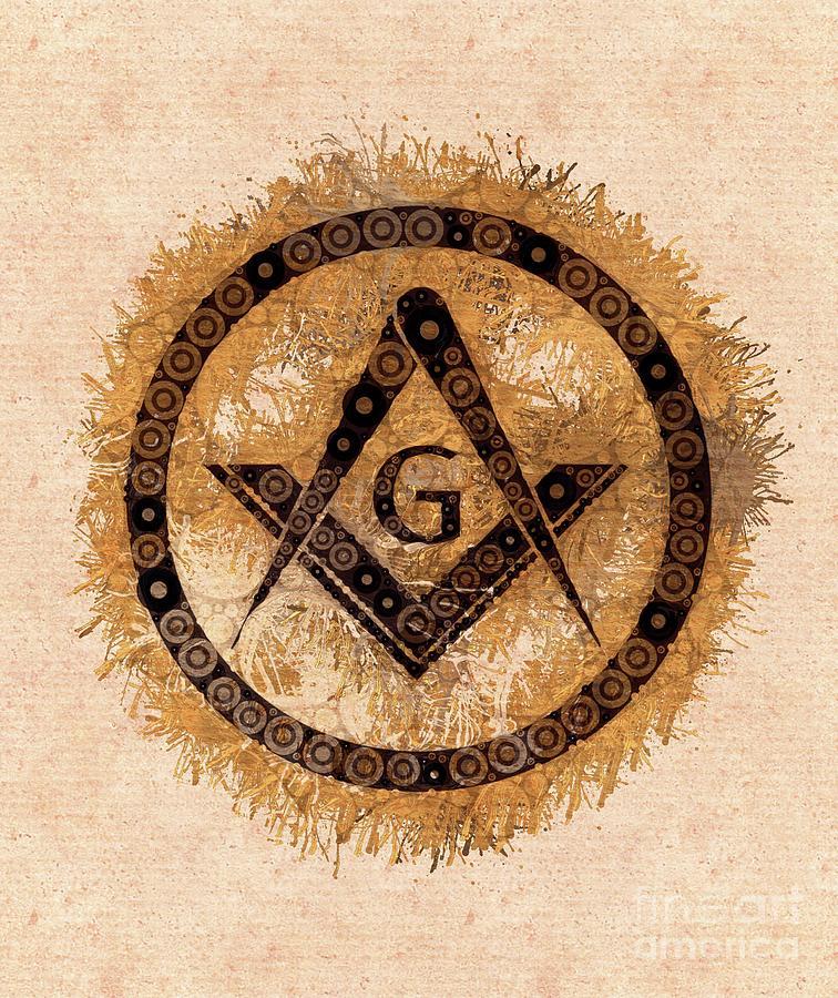 Freemason Mason Masonic Lodge Symbol Painting By Mary Bassett