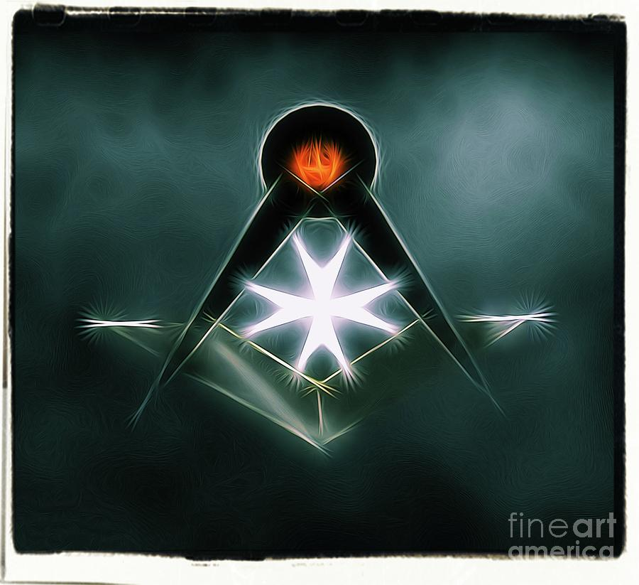 Freemason Digital Art - Freemason Symbol By Raphael Terra by Raphael Terra
