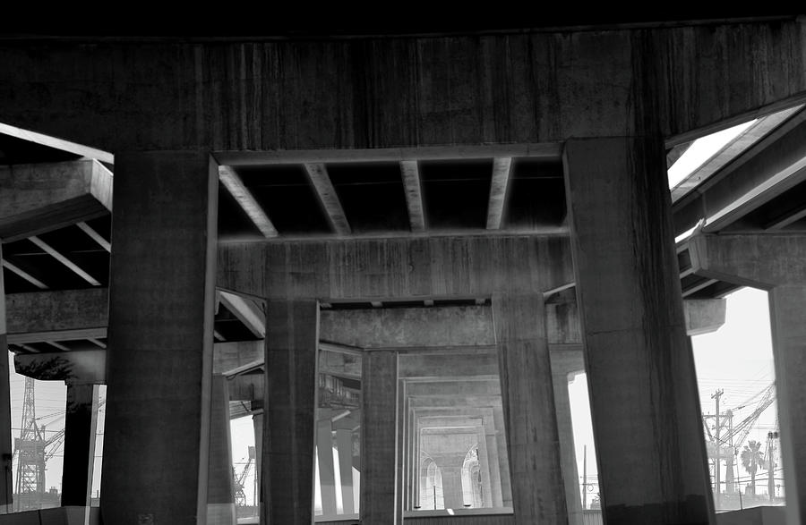 Architecture Photograph - Freeway by Larry Butterworth