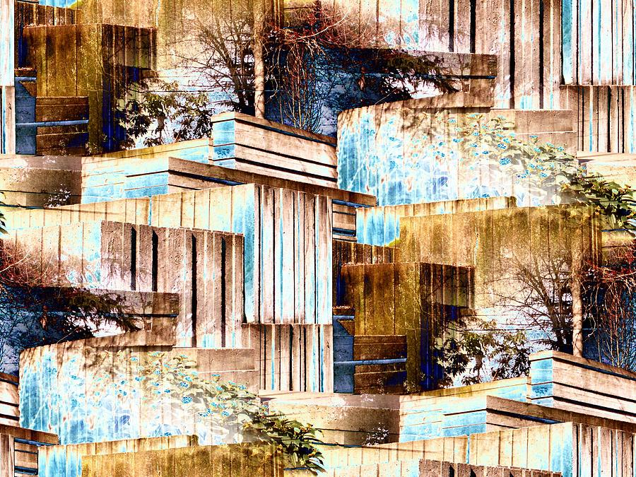 Seattle Digital Art - Freeway Park by Tim Allen