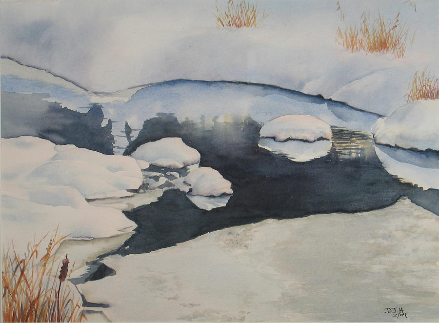 Winter Painting - Freeze Up by Debbie Homewood