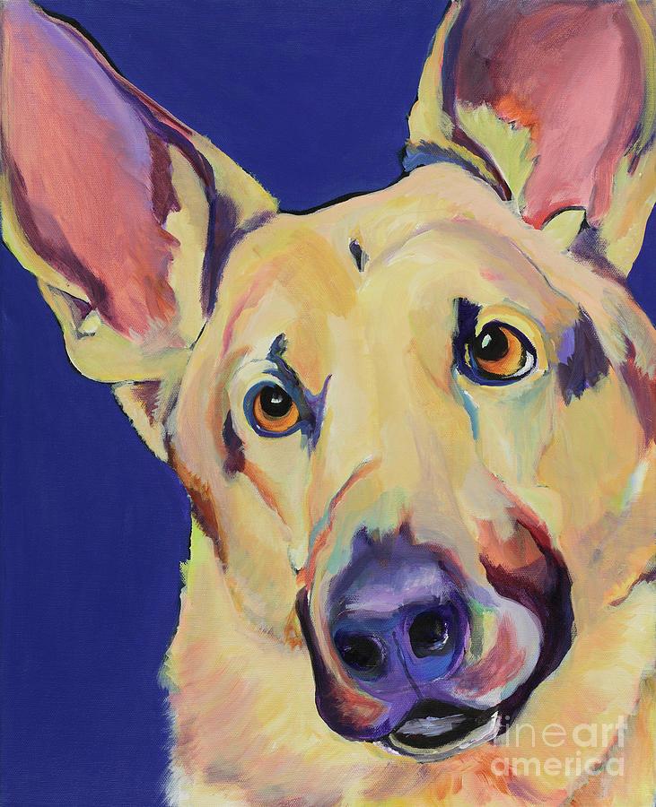 German Shepherd Painting - Freida by Pat Saunders-White