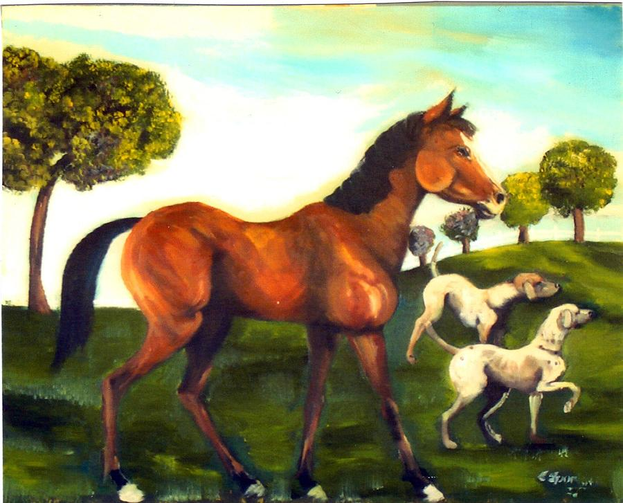 Freinds Painting by Leslie Spurlock