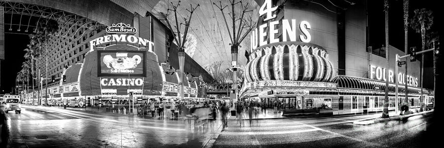 Fremont Street Experience Bw Photograph
