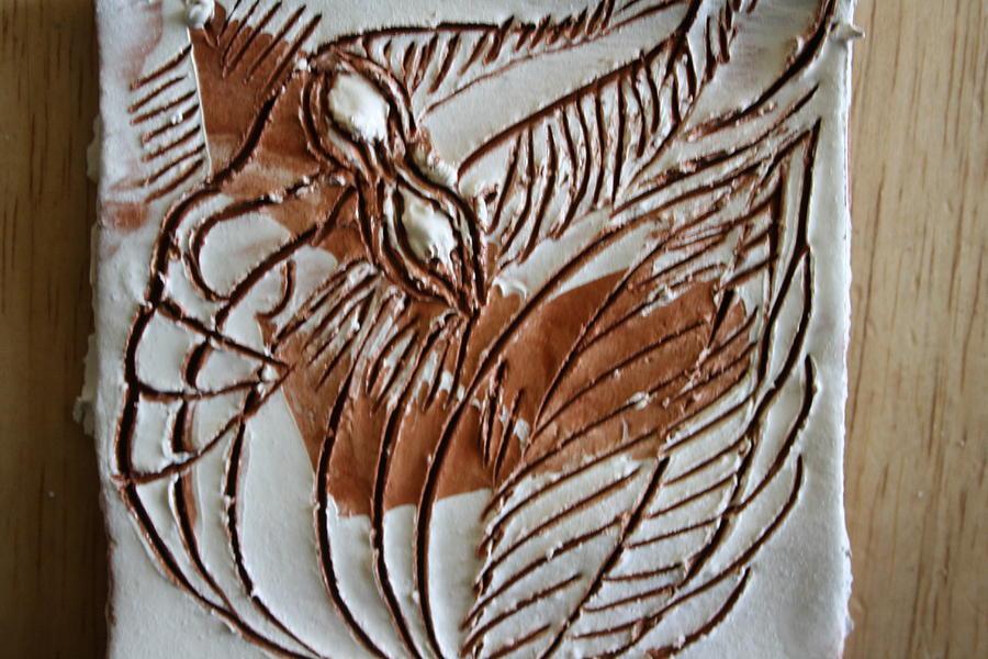 Jesus Ceramic Art - French - Tile by Gloria Ssali