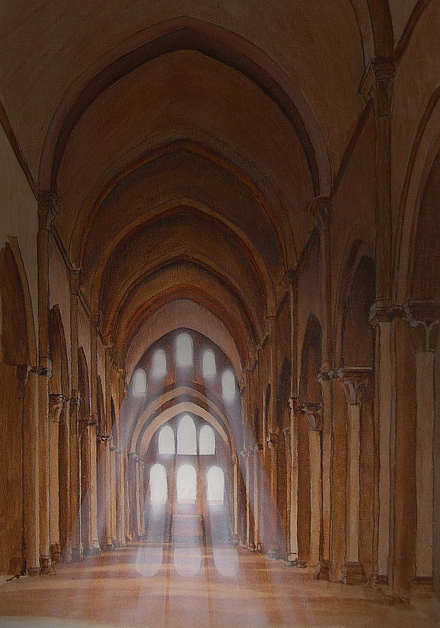 Acrylic Painting - French Abbey by Andrew Boyce