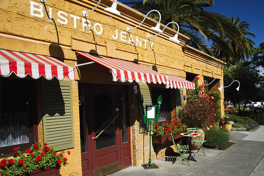 Entrance Photograph - French Bistro by George Oze
